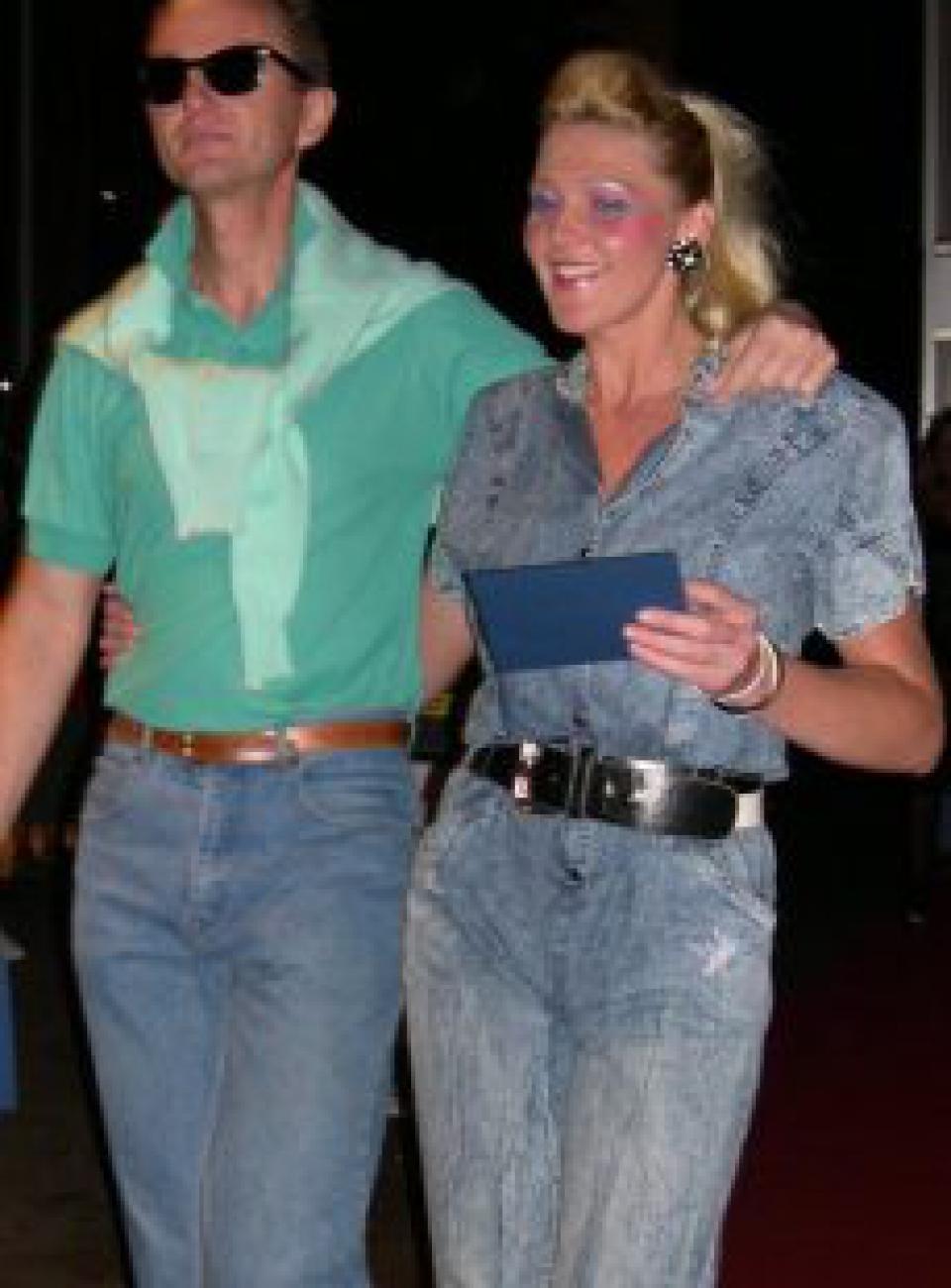 1980'er mode, 80'er mode, denim, stonewashed jeans, snowwashed jeans
