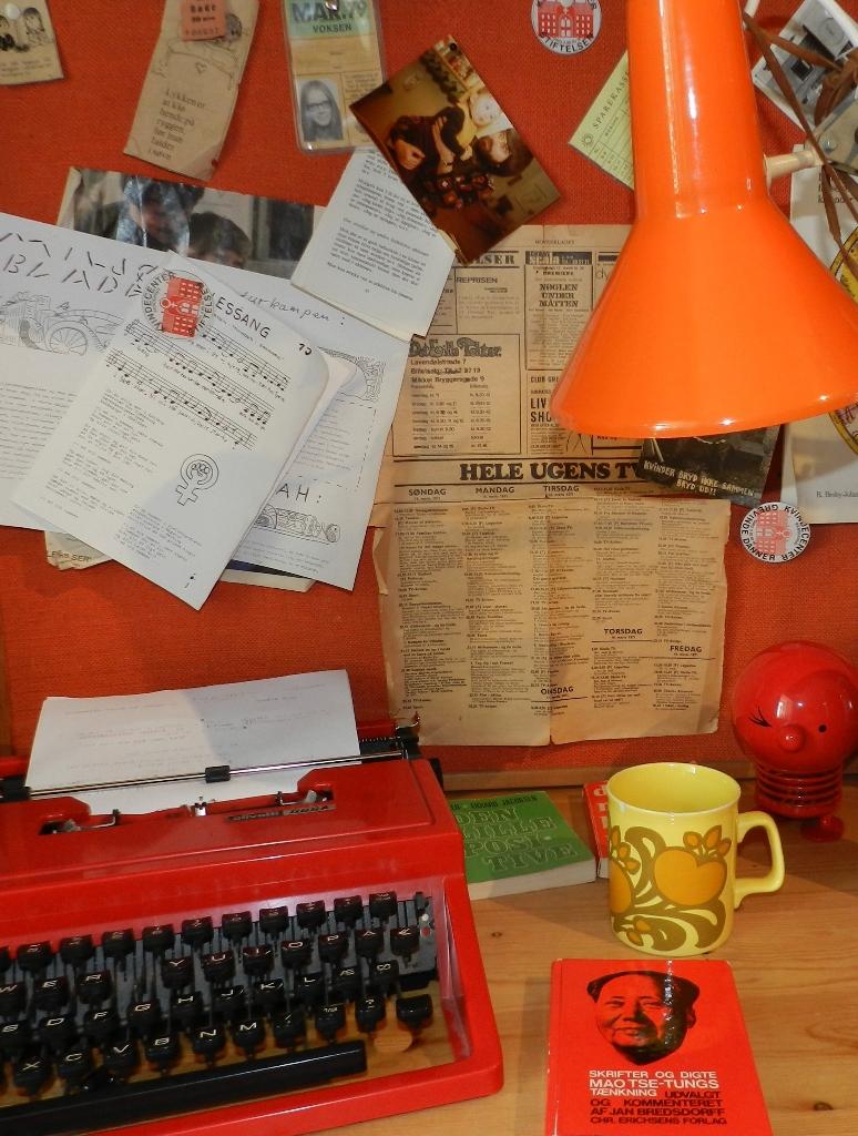 rekvisitter og møbler fra 70'erne
