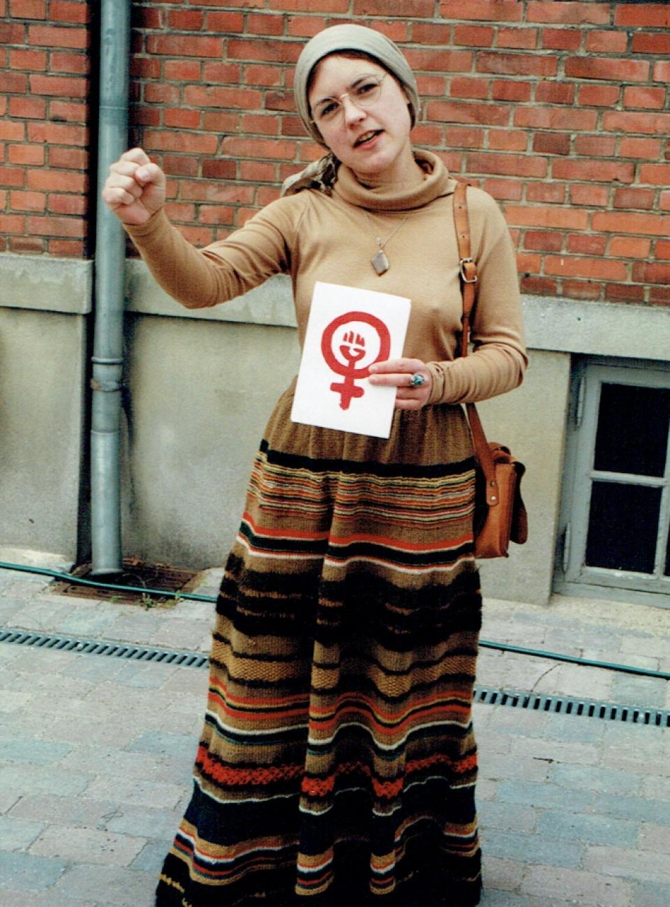 1970'er mode, rødstrømper, flipper, hippie, feminisme