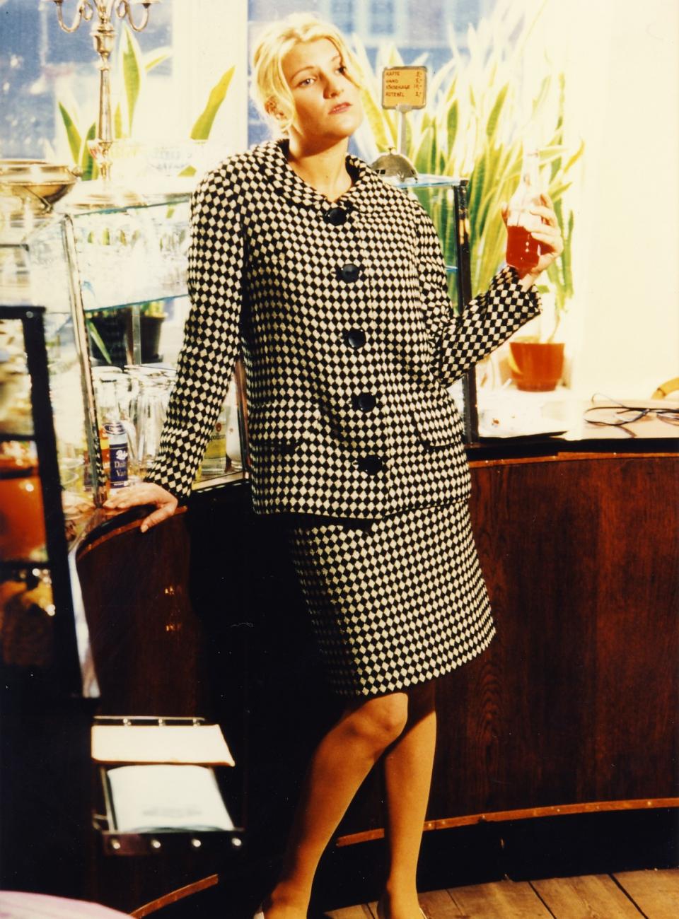 Spadseredragt fra 1960'erne, vintage, pepita tern, 60'er vintage mode